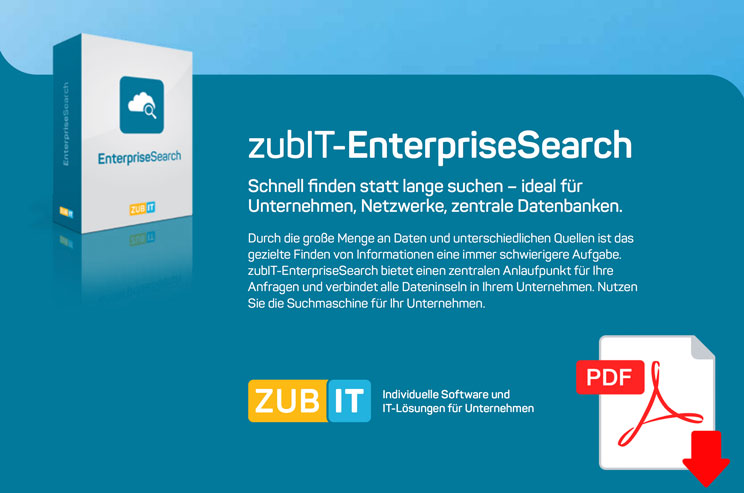 zubIT EnterpriseSearch Datenblatt